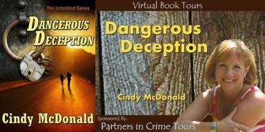 Cindy McDonald Dangerous Deception Tour Banner