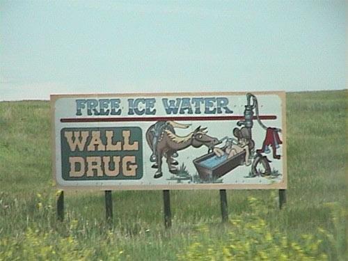 James R. Callan Free Ice Water Sign 2