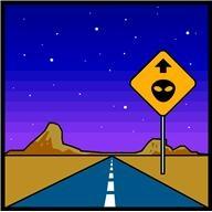 DV Berkom Alien Road Sign