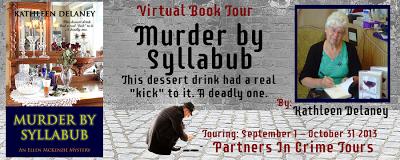 Murder by Syllabub Tour Banner