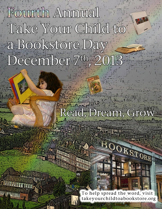 Take Your Child To A Bookstore Poster 2013