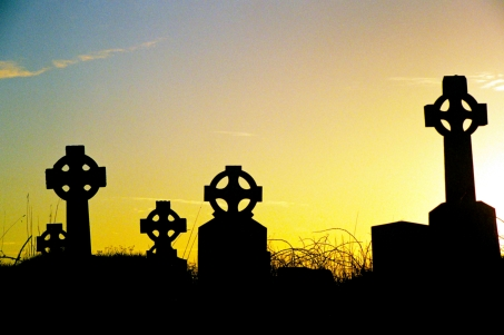 Kilmoon Church Celtic Crosses