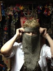 Bedouin Treasure Face Veil from the Sudan Border