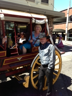 Cindy on the Stagecoach with Rick