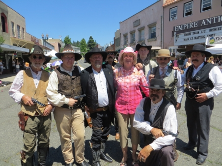 Cindy and the Wagon Train Main Street Dudes