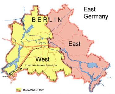 Jeanne Matthews Berlin Wall Map