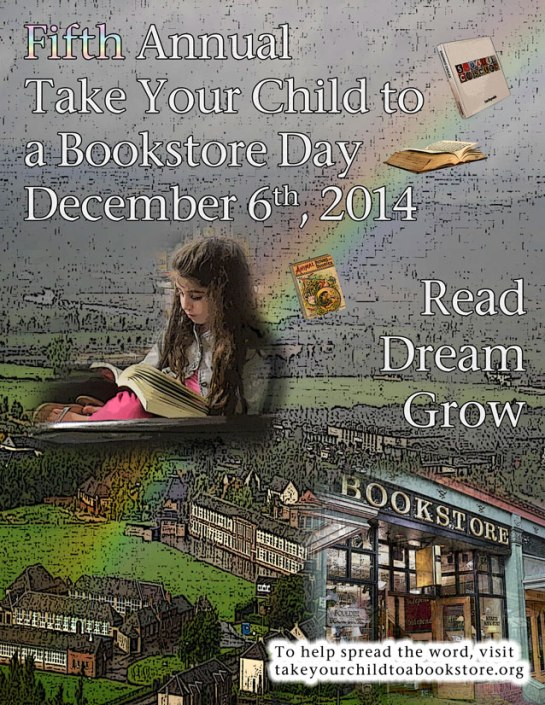 Take Your Child To A Bookstore Poster 2014