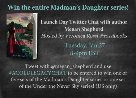 Megan Shepherd Twitter Chat Graphic