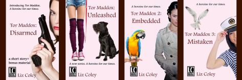 Tor Maddox Four Book Covers