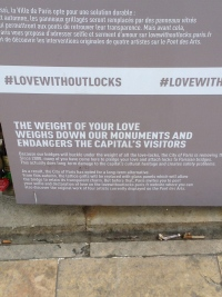 Jeanne Matthews Paris Love Without Locks Sign