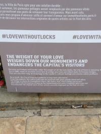 Jeanne Matthews Paris Love Without Locks Sign