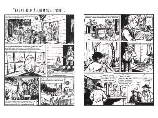 Laura Williams McCaffrey Graphic Novel Page