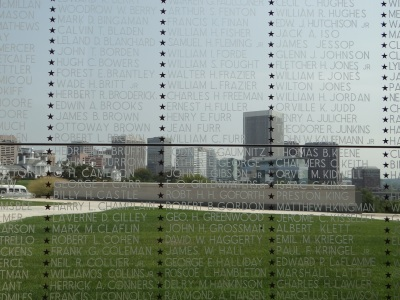 From inside the Virginia War Memorial