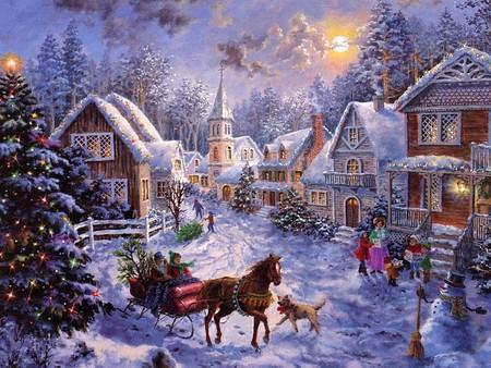 christmas-village-scene